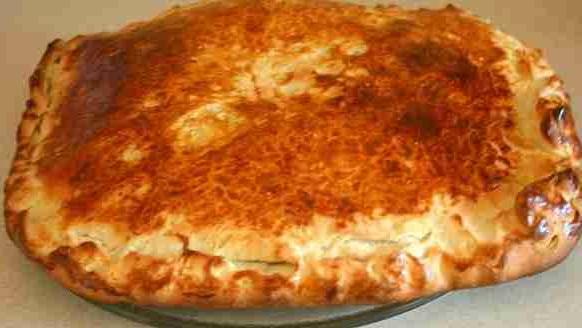 """Продукты, необходимые для приготовления пирога  """"Курник """" с белыми грибами."""