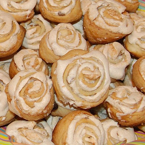Рецепт печенья розочки из дрожжевого теста