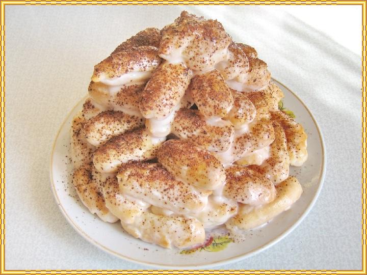 Торт с вишней полено рецепт с фото пошагово